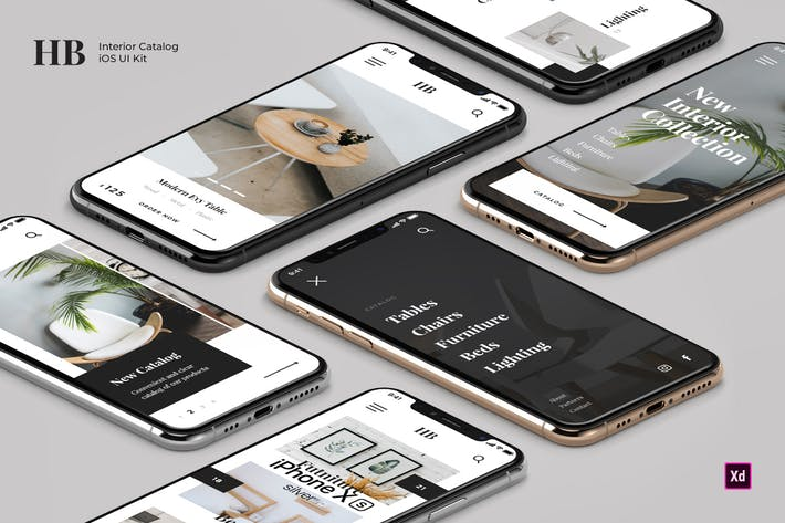 Thumbnail for Homeband - Interior & Furniture iOS UI Kit