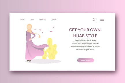 moslem landing page template