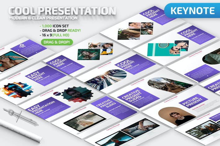 Thumbnail for Cool Keynote Presentation Template
