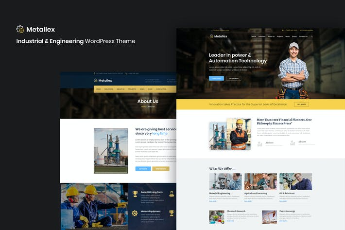 Thumbnail for Metallex - Industrial And Engineering WordPress