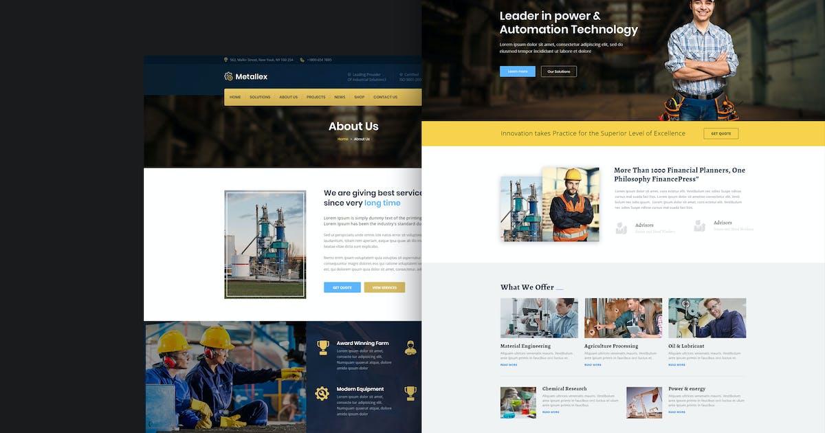 Download Metallex - Industrial And Engineering WordPress by shtheme