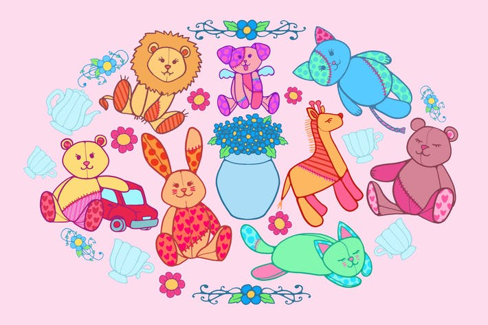 Thumbnail for Cute Toys Clipart