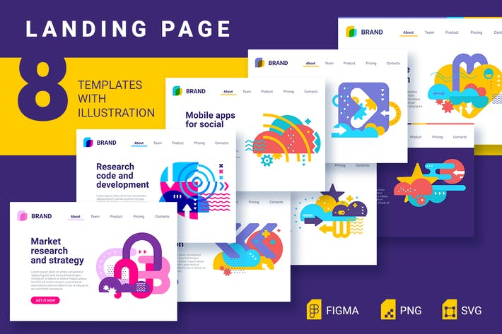 Thumbnail for 8 landing pages