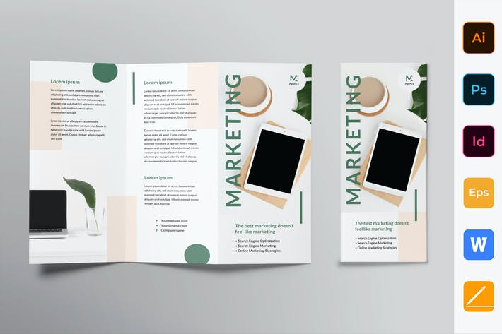 Thumbnail for Digital Marketing Agency Brochure Trifold