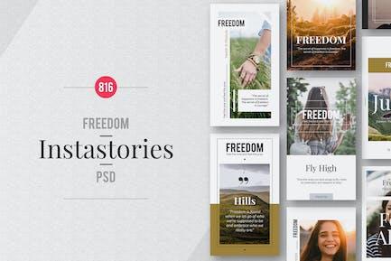 """Freedom"" Instagram Story Templates"