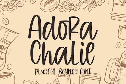 Adora Chalie - Playful Bouncy Font