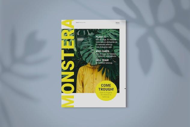 Magazine Template   Monstera
