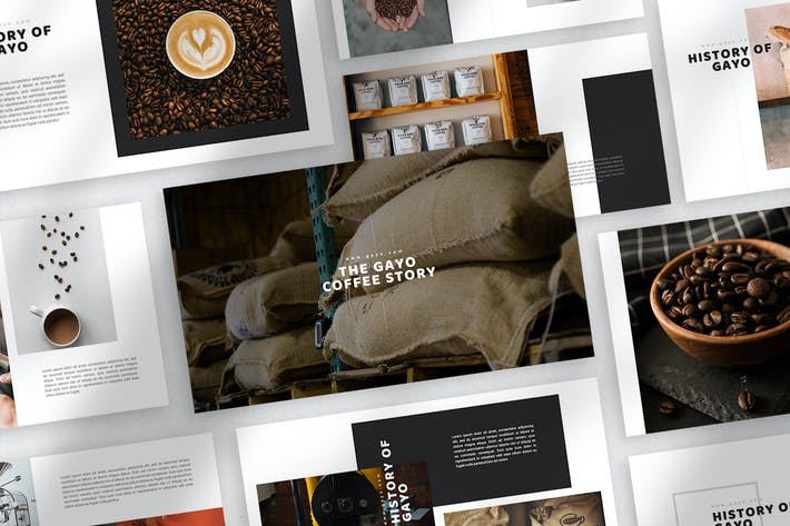 Thumbnail for Шаблон Keynote кофе Gayo