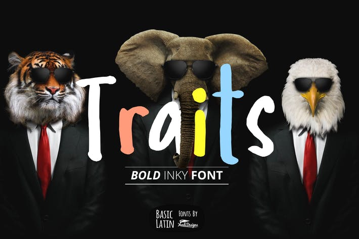 Thumbnail for Traits Inky Font