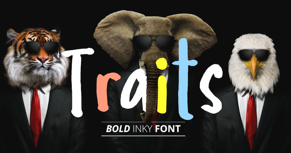 Download Traits Inky Font by yandidesigns