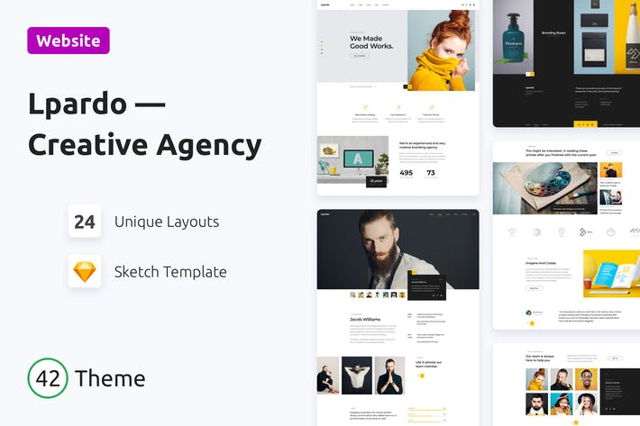 Cover Image For Lpardo — Creative Agency Sketch Template