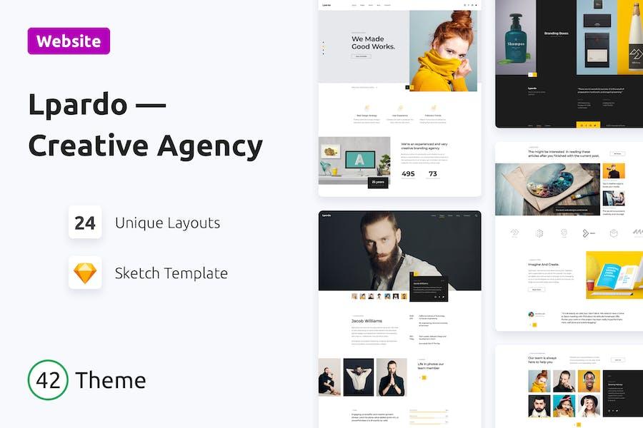 Lpardo — Creative Agency Sketch Template