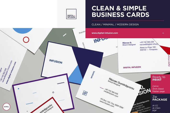 Thumbnail for Clean & Simple Business Cards