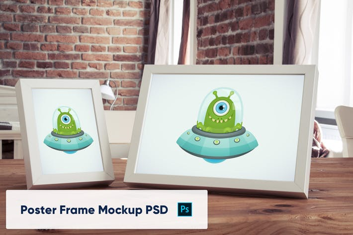 Thumbnail for Poster Frames in luxury interior - Mockup PSD