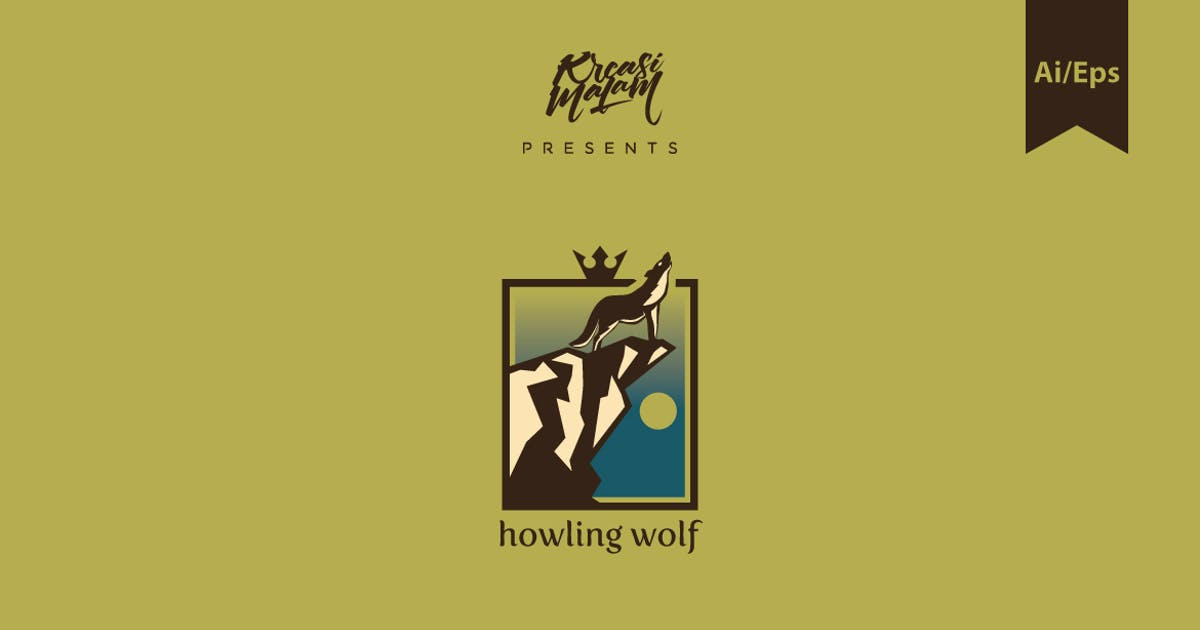 Download Howling Wolf Logo Template by Ijajil