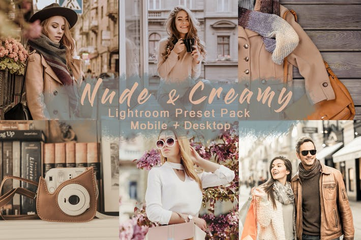 Thumbnail for Nude & Creamy | Lightroom Presets Mobile+Desktop