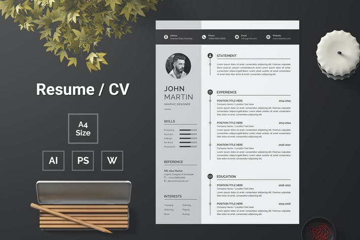 Thumbnail for Resume Template 132