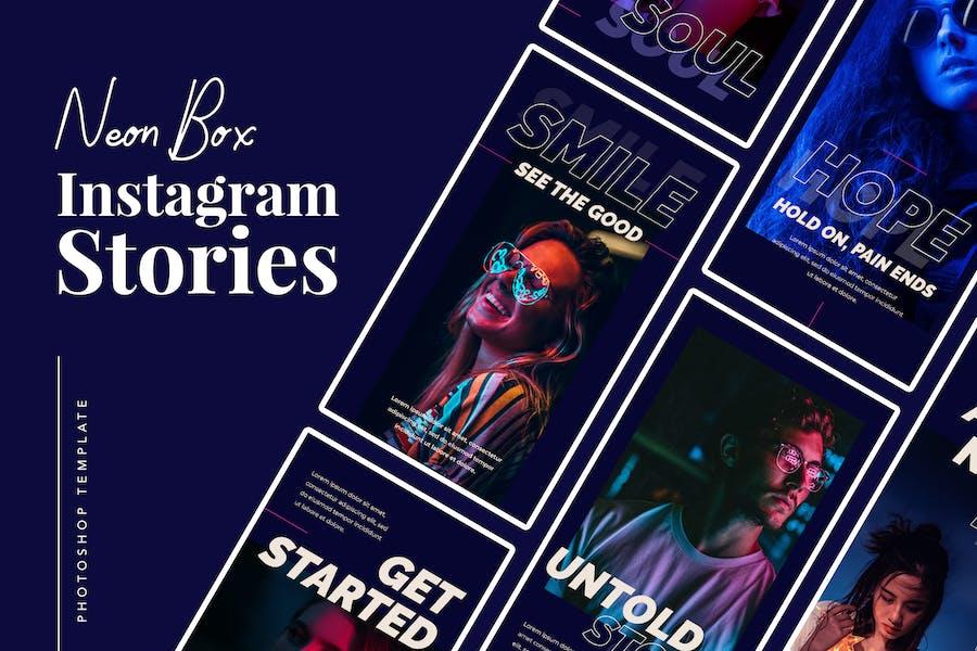Neon Box Instagram Stories Template