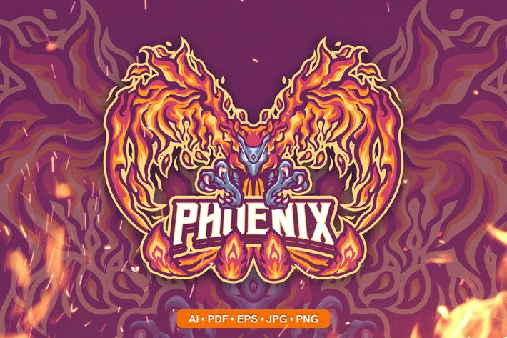 Phoenix Esports and Sports mascot Logo