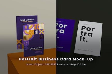 Portrait Business Card Mock-Ups