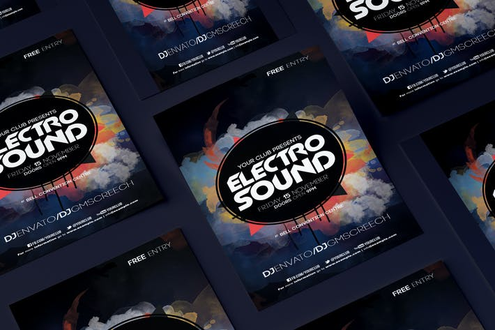 Thumbnail for Electro Sound Flyer