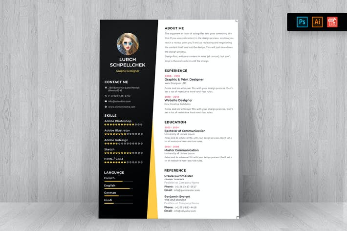 Thumbnail for Resume CV Template-59