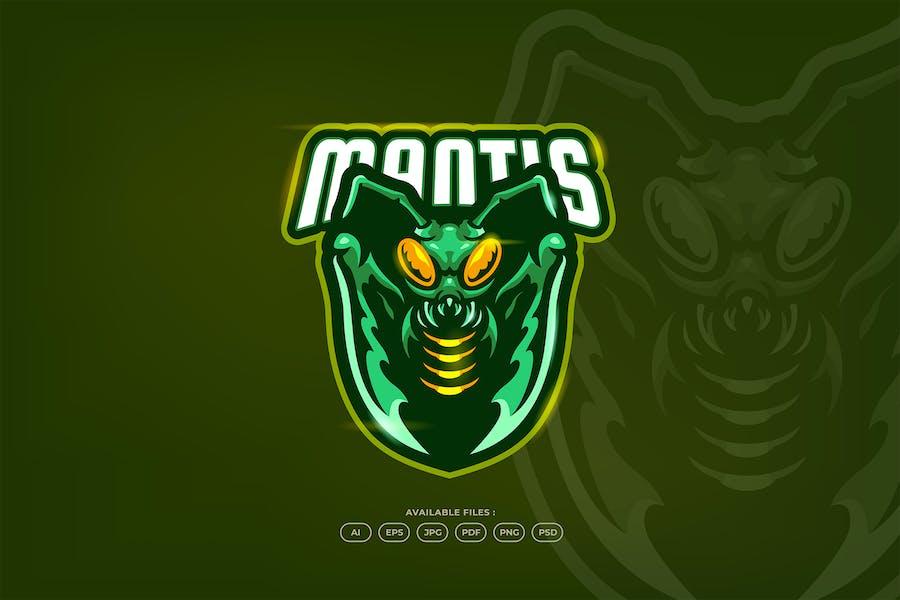 Mantis Insect Esport Logo