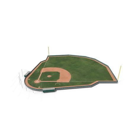 Baseball Field with Wooden Board Wall