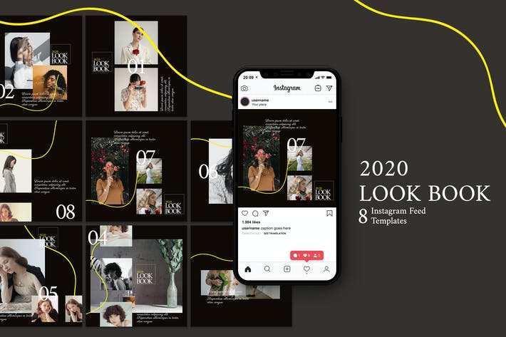 Thumbnail for Look Book - Instagram Post Template