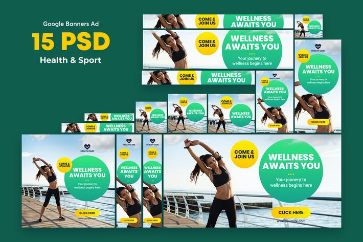 Thumbnail for Health & Sport Banners Ad