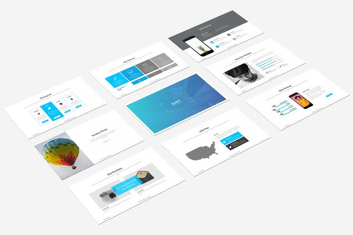 Thumbnail for Elnia Powerpoint Template