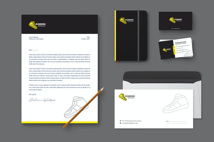 Thumbnail for Shoes Branding Identity & Stationery Pack