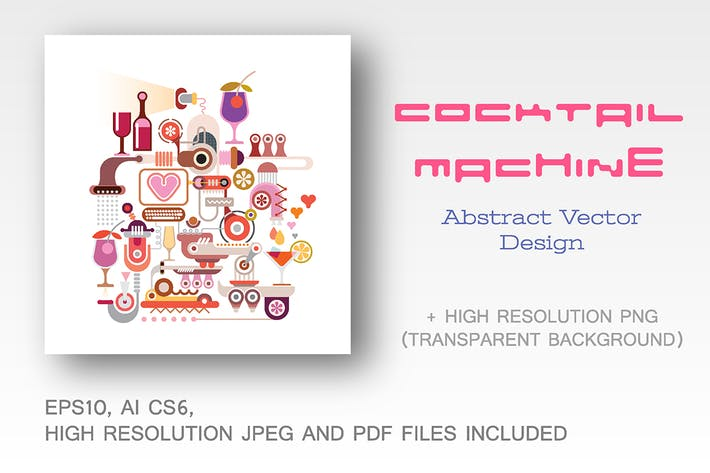 Thumbnail for Cocktail Machine vector illustration