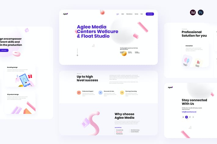 Thumbnail for Aglee - Creative Agency landing page template