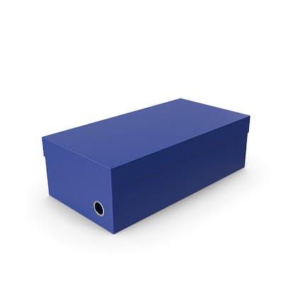 Blauer Schuhkarton