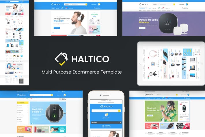 Thumbnail for Haltico - Mega Store Prestashop Theme