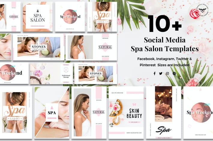 Thumbnail for Social Media Spa/Salon Templates