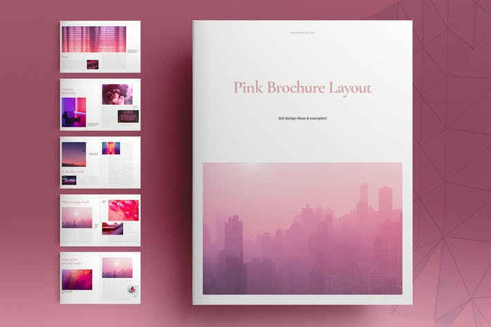 Thumbnail for Pink Brochure Layout