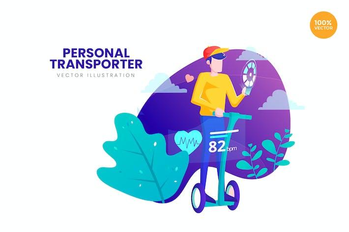 Personal Transporter Vector Illustration Concept