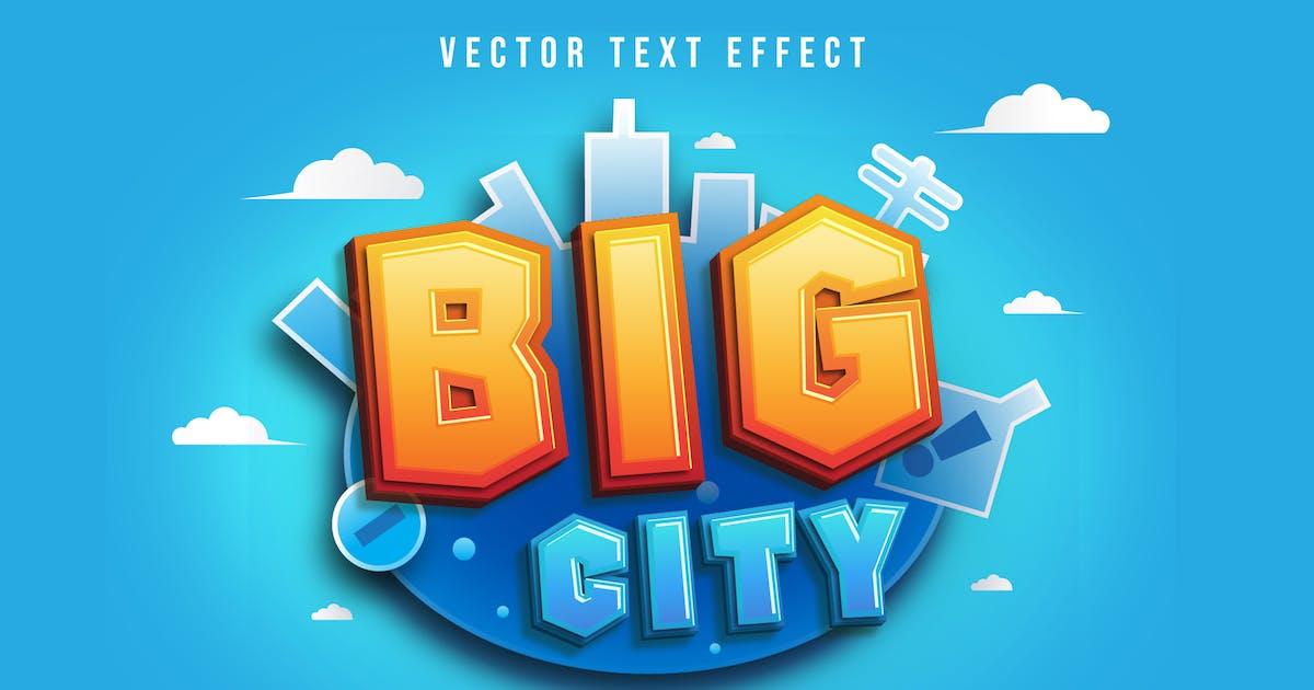 Download Big City - Gradient Text Effect by modaldesain