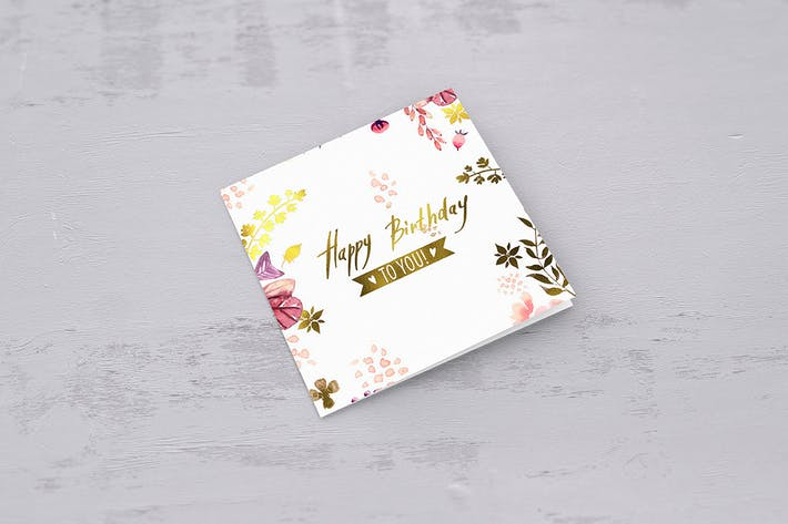 Thumbnail for Square Greeting Card Mockups