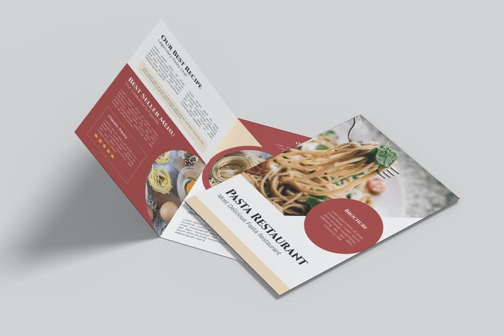 Pasta Restaurant Bifold Brochure