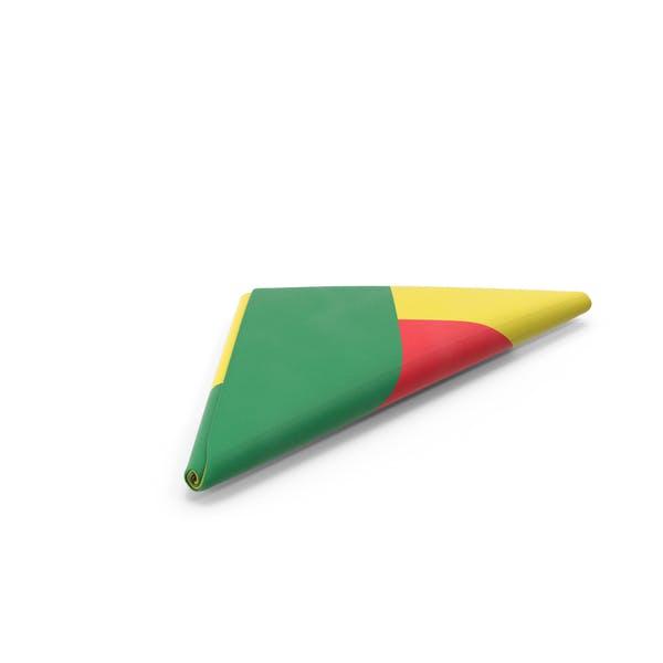Flag Folded Triangle Benin