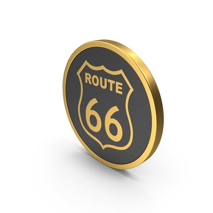 Gold Icon Route 66