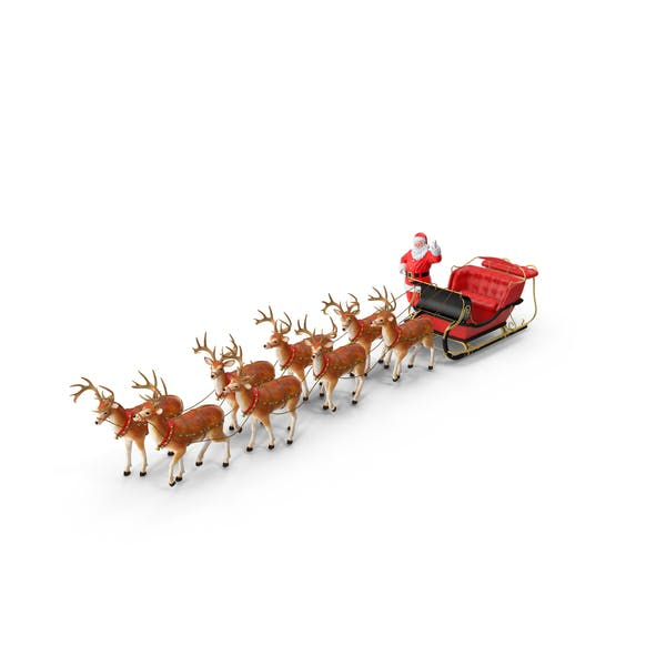 Cover Image for Sleigh with Reindeer