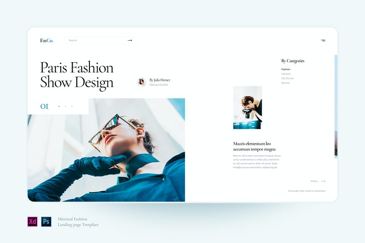 Thumbnail for Fasco - Minimal Fashion landing page template