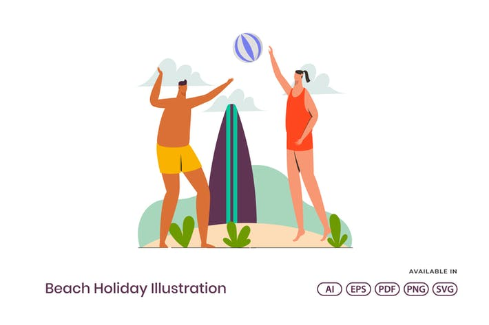 Thumbnail for Urlaub Strand Illustration