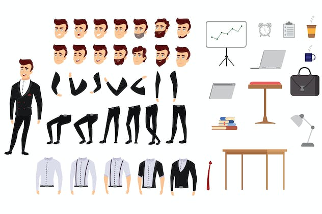 Businessman - Character Set
