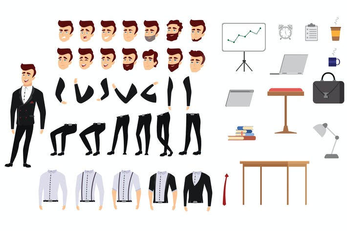 Thumbnail for Businessman - Character Set
