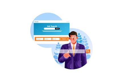 Buscar ofertas de empleo a través de la página web